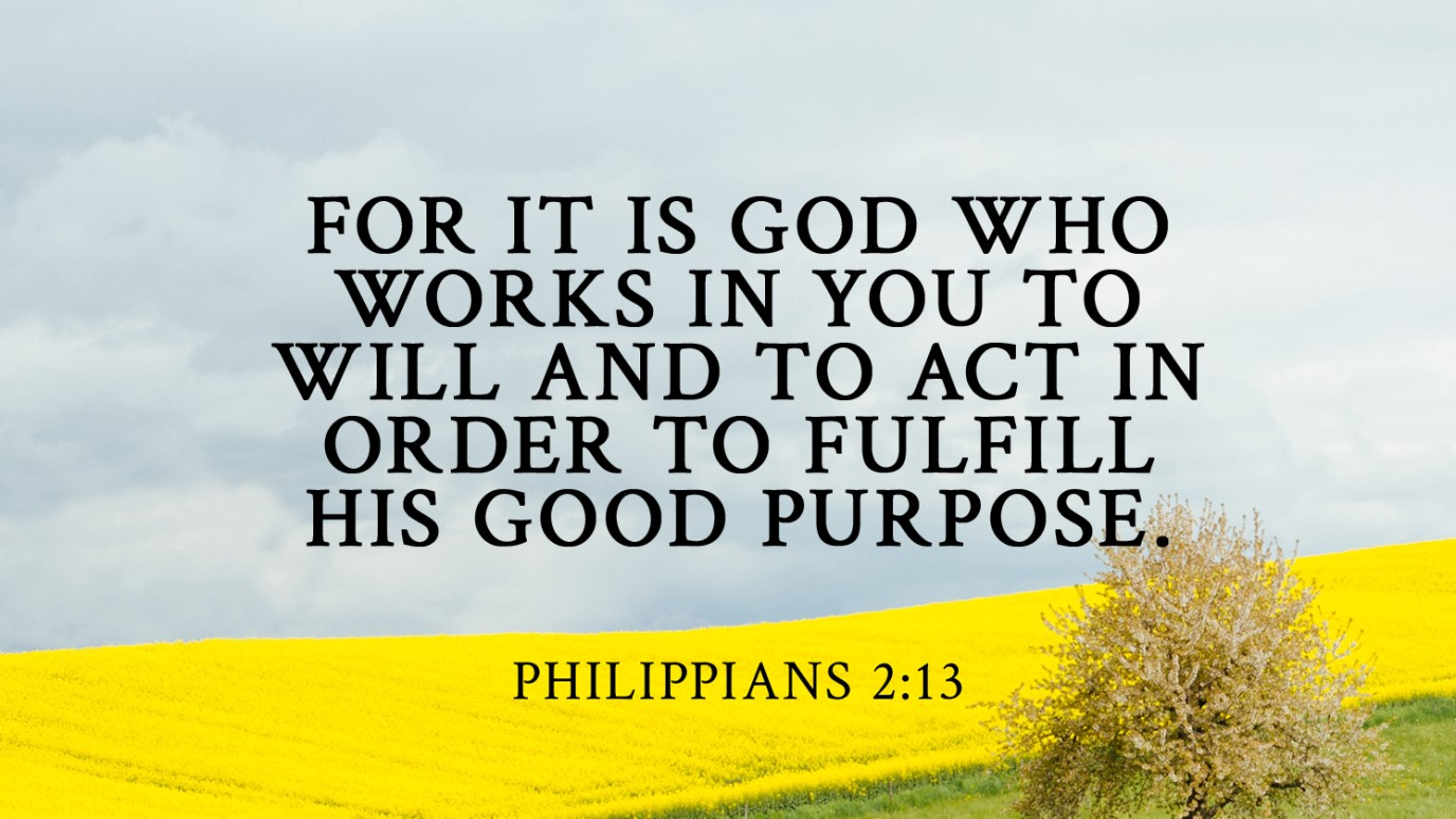 Verse of the Day - Philippians 2:13 - iDisciple